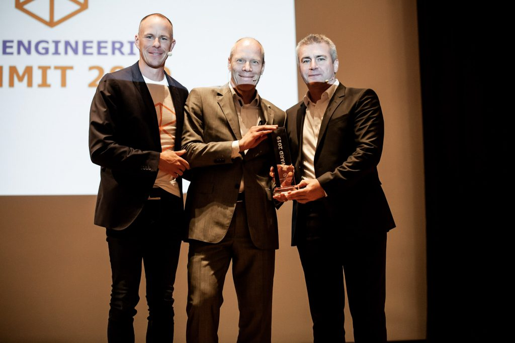 Cost Engineering Summit Award Verleihung 2019 an SMP mit Michael Busam, Klaus Bentheim und Steffen Goebel